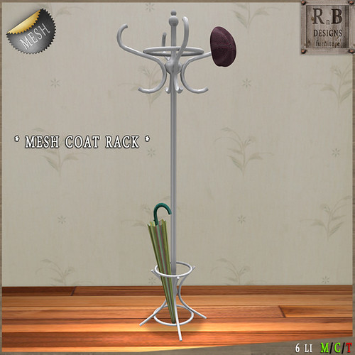 NEW + PROMO ! *RnB* Mesh Coat Rack - White (copy)