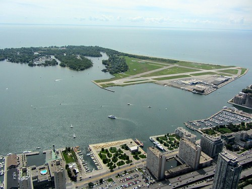 Aerial View of Centre Island and Airport