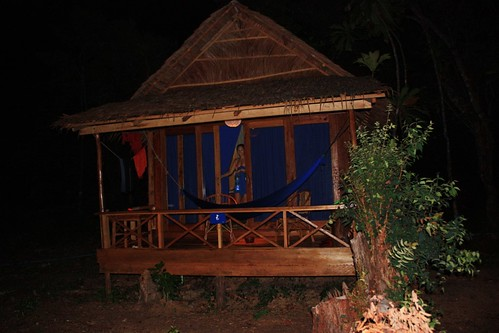 The outside of our bungalow on Koh Rong Samloem