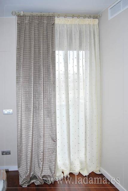 Cortinas de lino con doble cortina terciopelo y barra de forja flickr photo sharing - Barras de forja para cortinas ...
