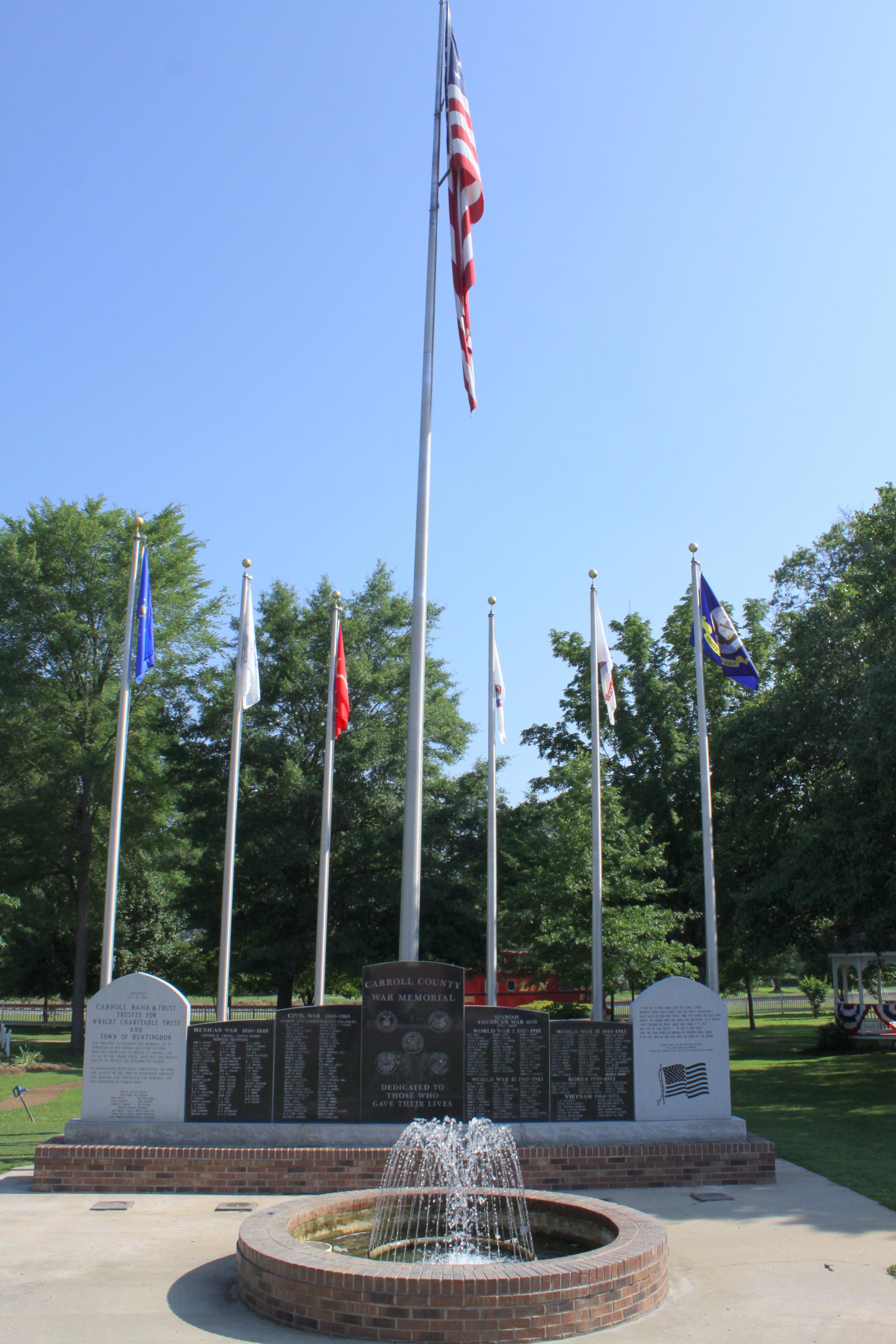 Tennessee carroll county clarksburg - Park Memorial Tn Tennessee Veterans Huntingdon Carrollcounty Thomaspark Bmok