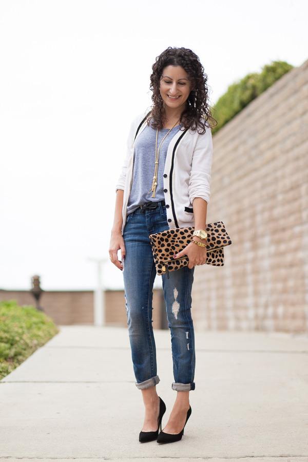 Clare Vivier Leopard Clutch, San Diego, Los Angeles, Fashion Blog