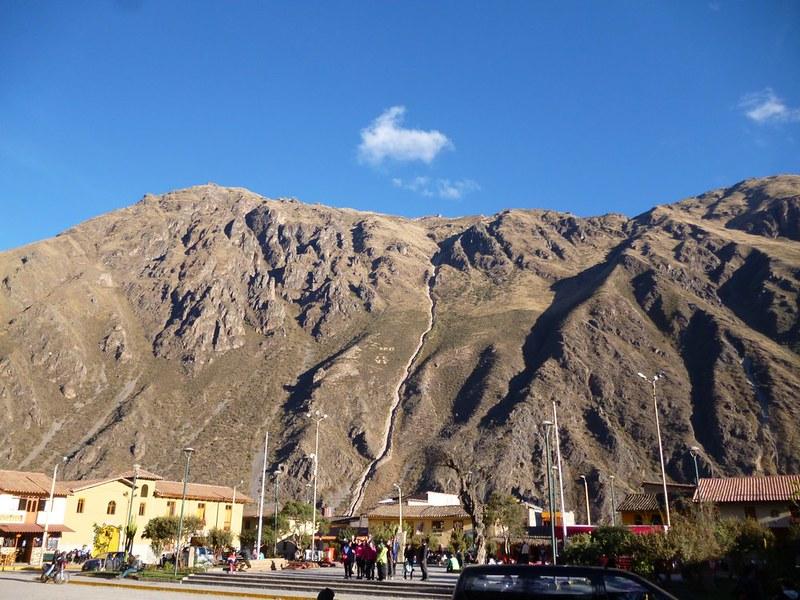 Majestic mountain near Ollantaytambo