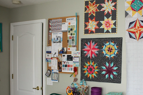 Bulletin Board and Minis in my new sewing space