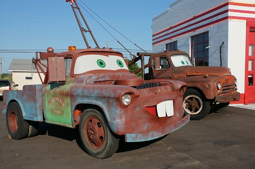 Tow Mater prototype at Cars on the Route - Route 66, Galena, KS
