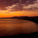 SUNSET OVER HARLECH BAY