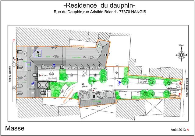 Résidence du Dauphin - Plan de vente - Plan de masse