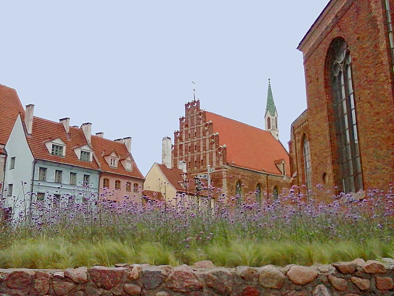 Old Riga near St Peter's Church by aigarsbruvelis