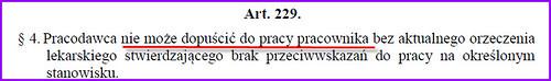 Artykuł 229 Kodeksu Pracy Badania Okresowe
