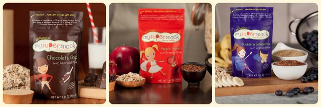 My Super Snacks: Yummy granola bites for kids on the go made with real fruit, omega 3's, and nothing articificial.  A snack to feel good about feeding the kids while on the move!