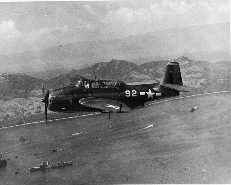 TBM-1 from VT-26 in flight (1944)
