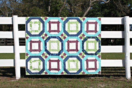 Chain + Link quilt - front view