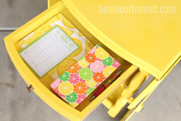 lemonade stand drawer