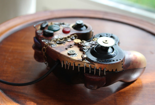 Manette GameCube d'inspiration steampunk