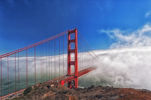 Way to Fog: Golden Gate Bridge, San Francisco