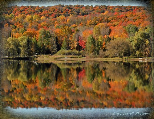 autumn lake color reflections michigan textures upnorth ie leafpeeping sixmilelake memoriesbook magicunicornverybest
