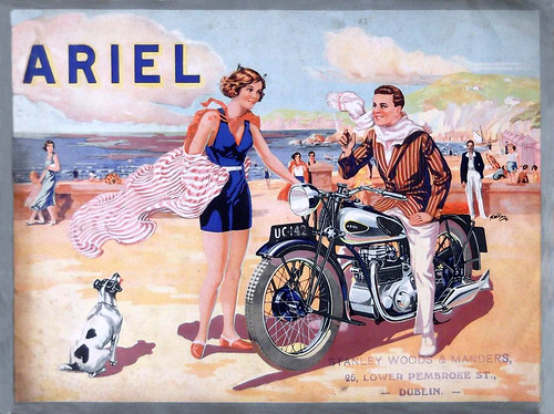 1932 Ariel Square Four brochure cover by bullittmcqueen