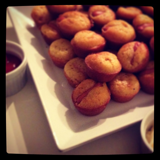 #Homemade Corn Dogs for Poker Gaming Night with friends....