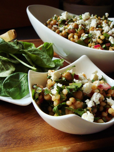 Lots Of Herbs Chickpea Couscous Salad