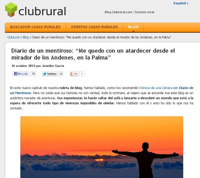 Entrevista a Miguel Egido en Clubrural.com