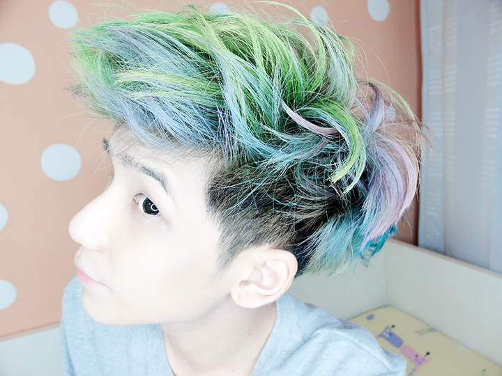 green hair typicalben