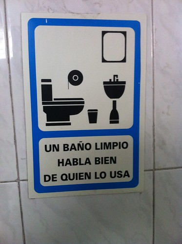 México DF | Restaurante Don Chon | Un baño limpio habla bien de quien lo usa
