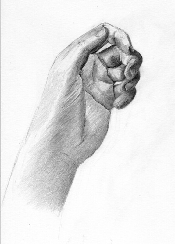 pencil drawing - hand