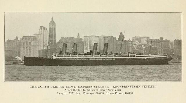 "The liner ""Kronprinzessin Cecilie"" 1910"