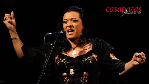 Saray Muñoz, cantaora, en la actualidad pertenece al Ballet Nacional de España y está dotada con una excelente voz. Foto: Martín Guerrero