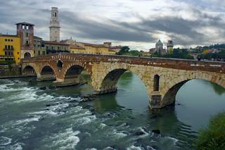 Image of Ponte Pietra. bridge italy river pentax verona kr pentaxkr