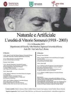 Naturale e Artificiale eredità Vittorio Somerzi