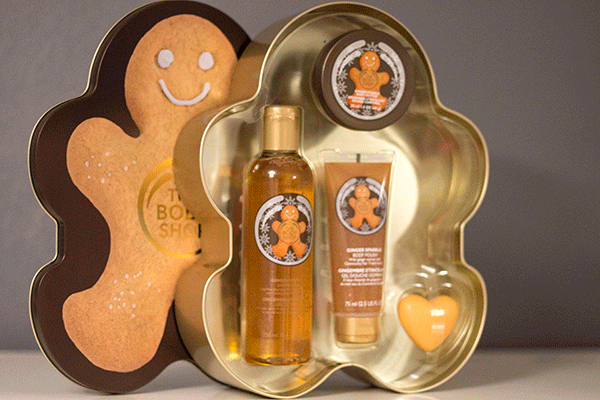 The Body Shop's Ginger Sparkle Shower Scrub Moisture Collection