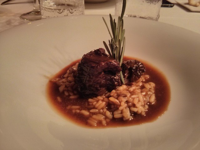 jarrete de ternera con risotto de setas - restaurante espliego - vila-real castellón