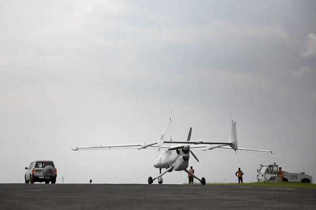 UAVs launch in Goma - DR Congo (MONUSCO)