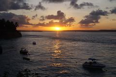 Sunset in the Sibauma beach