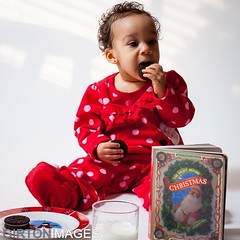 #Dana decided she was going to eat the #cookies we left for #Santa during her #Christmas #photoshoot in the #GirtonImages #studio last weekend. - #family #familyphotojournalism #mylouisville #igerslouisville #louisville #instaddict #instaholic #prophoto