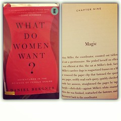 Saw this on the new additions shelf at the library and agreed in wonder with the title/question ... What DO 'I'want? And then the page I opened to ... (no arguments from me) #whatdowomenwant #magic