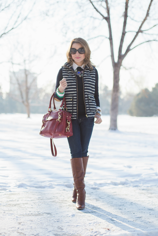 J.Crew Stripe Excursion Vest