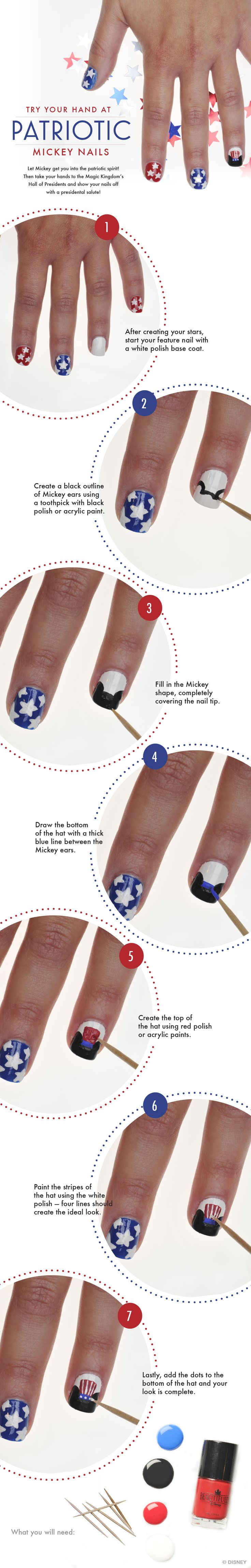 Patriotic Nails Beautifully Disney