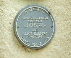 Photo of George Harding and Alice Harding blue plaque