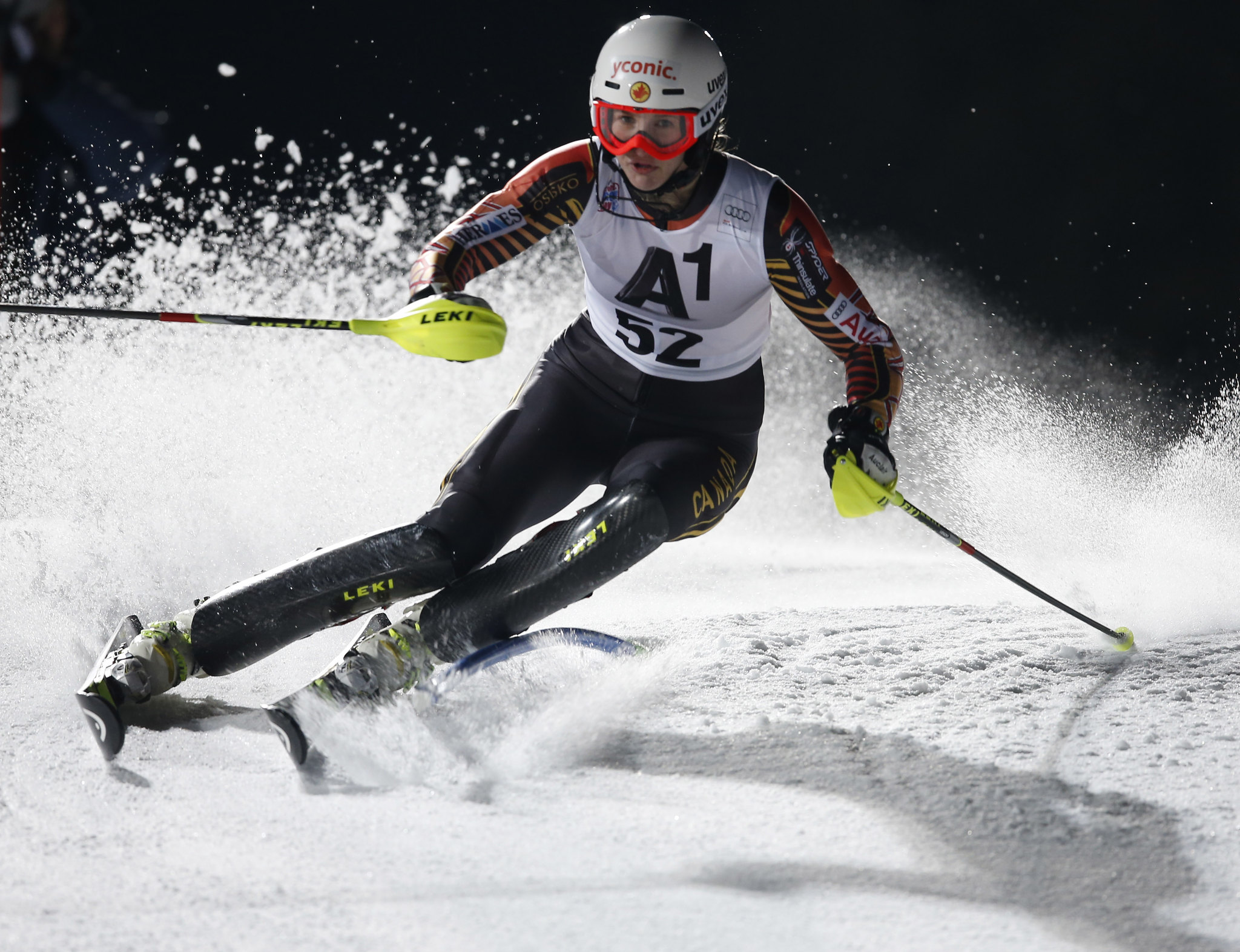 Irwin in action in Flachau, AUT during the slalom