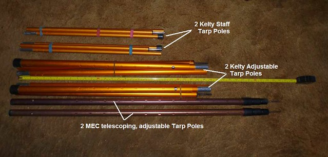 Hereu0027s my collection of tarp poles for tent c&ing . & who brings tarp poles? | Page 2 | Adventure Rider