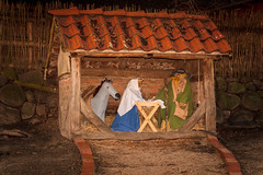 carving(0.0), temple(0.0), christmas decoration(0.0), log cabin(0.0), ancient history(1.0), wood(1.0), manger(1.0), nativity scene(1.0),