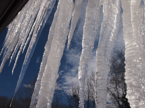 behind the icicles by Rick Payette