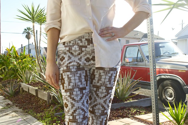 Mood Fabrics Carolina Herrera Brocade Pants