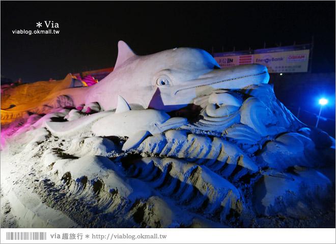 【2014台灣燈會在南投】南投沙雕燈會~夜間點燈好浪漫!還有精彩光雕秀6