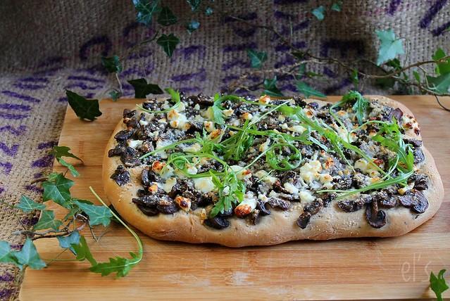 Focaccia aux champignons