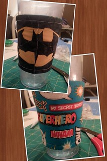 Batman cup cozy!