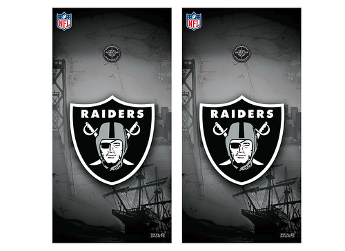 Oakland Raiders Cornhole Game Decal Set