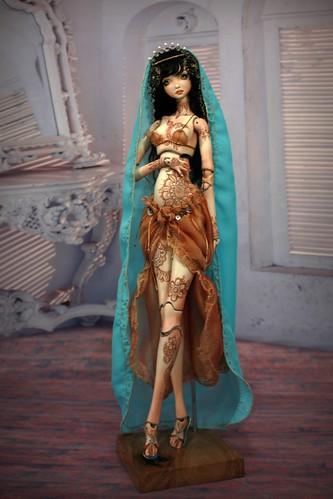 12797757403 12852079b3 Meskhenet & Nekhebit Fine Art Porcelain BJD Dolls by Forgotten Hearts http://www.Forgotten Hearts.com
